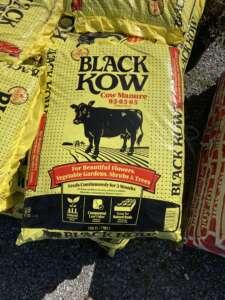 bag of black kow cow manure