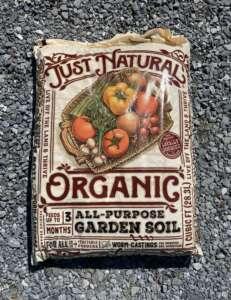 bag of organic garden soil