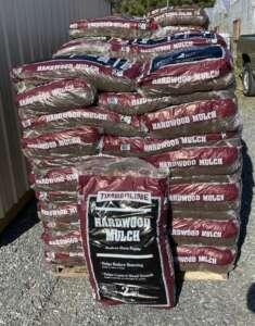 bag of shredded hardwood mulch