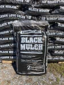 Bags of black mulch