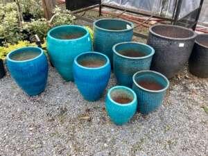 Light blue decorative pottery