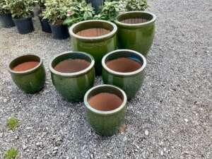 green decorative pottery